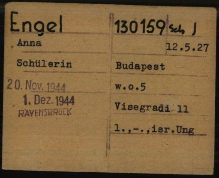 Registry office card, 1.1.6.7/10638036/ITS Digital Archive, Bad Arolsen.