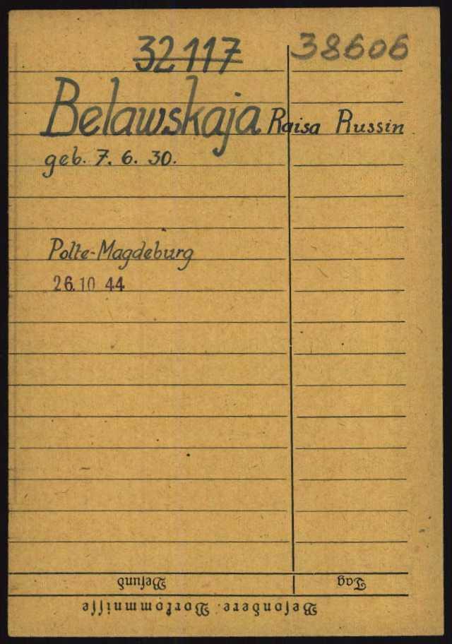 Buchenwald female prisoners dating