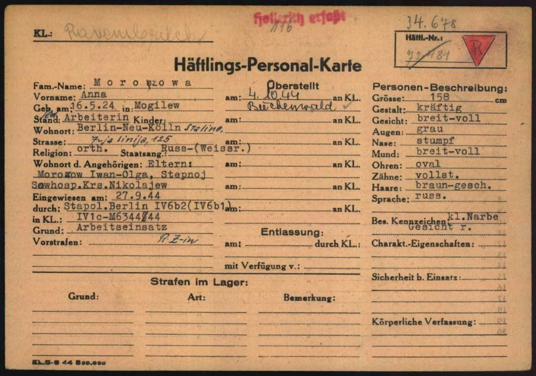 Auschwitz Karte.Häftlings Personal Karte E Guide Its